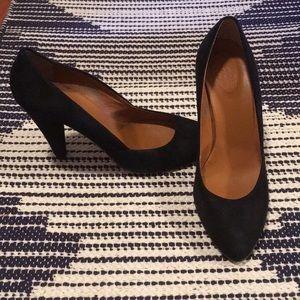 Black suede heels Madewell 1937